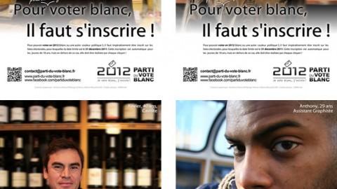 Pour (pouvoir) voter blanc …