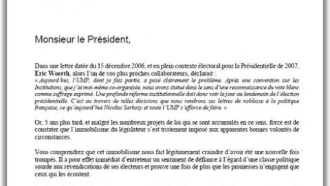 Lettre Ouverte à M. Sarkozy