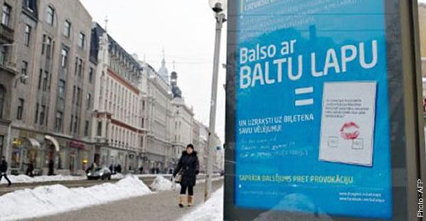 Referendum, Lettonie & vote blanc !