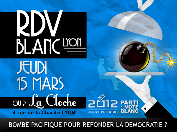 Affiche du RDV Blanc à Lyon !