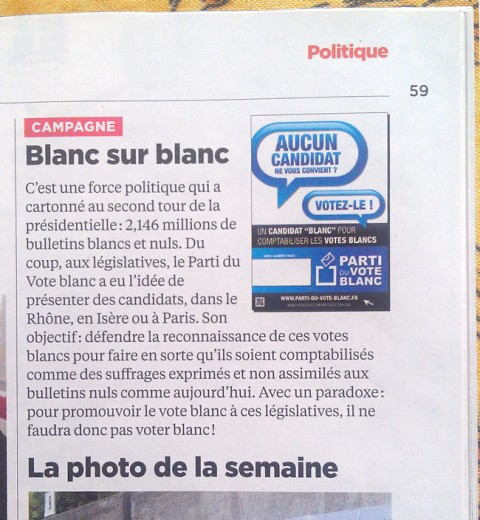 "Nouvel Obs & Candidats ""Blancs"""