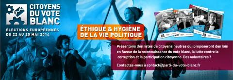 Elections européennes, Citoyens du Vote Blanc : Appel à candidat
