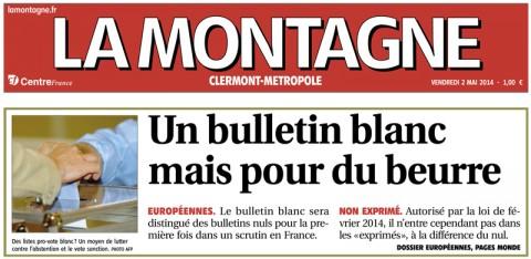 Article La Montagne – 2 mai 2014