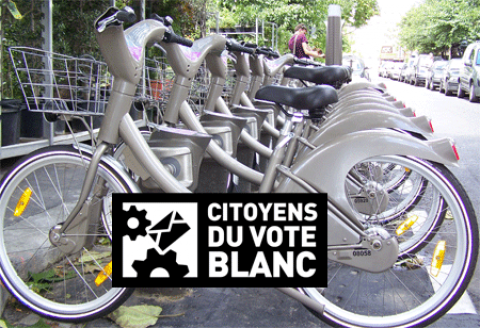 VéliBlanc… pédaler pour la démocratie.