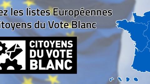 Les Citoyens du Vote Blanc déposent 6 listes aux Européennes