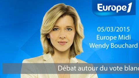 Débat sur le vote blanc sur Europe 1 Europe Midi – Wendy Bouchard