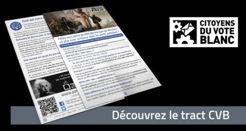 Militants et sympathisants : Téléchargez le flyer PVB.