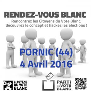 Rendez-vous blanc à Pornic (44) le 4 avril 2016
