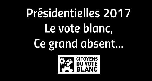 Présidentielles 2017, le vote blanc ce grand absent