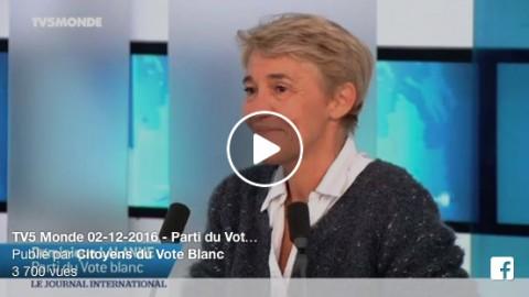 Intervention sur TV5 Monde – 02-12-2016