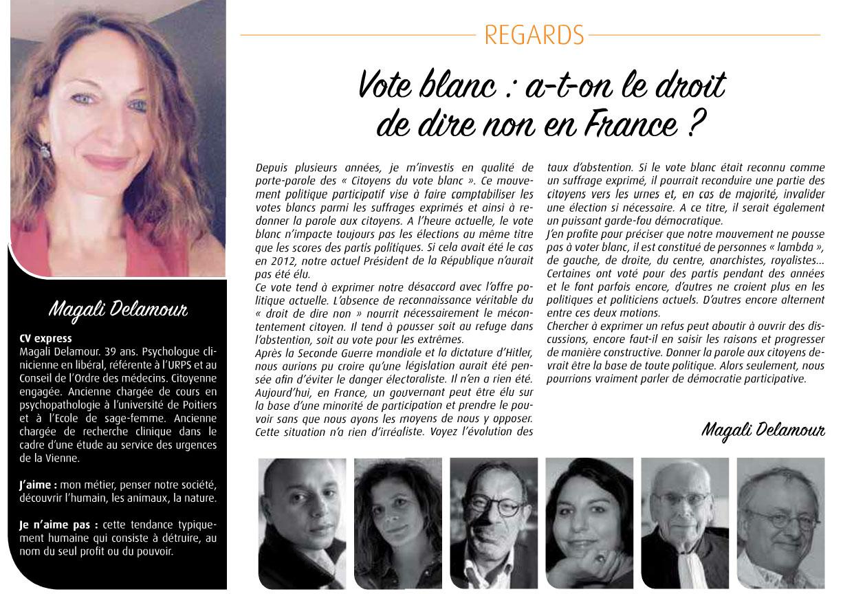 Article dans le magazine 7 à Poitiers - décembre 2016