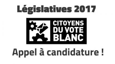 Législatives 2017, Appel à candidatures