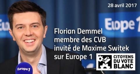 Citoyens du Vote Blanc sur Europe 1 – 28 avril 2017
