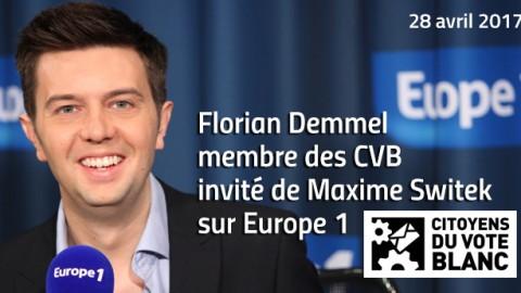 Citoyens du Vote Blanc sur Europe 1 – 28 mars 2017