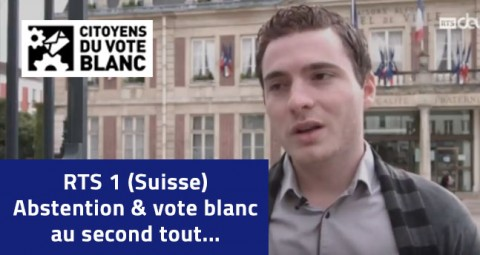 Florian Demmel, Citoyen du vote blanc, sur RTS (Suisse)