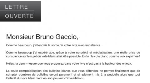 LettreS OuverteS à M. Gaccio (Suite)