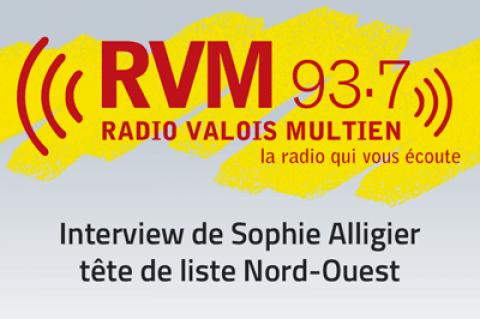 Sophie Alligier répond à Radio Valois Multien