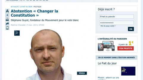 Article Le Parisien (05/11/2014) : Abstention « Changer la Constitution »