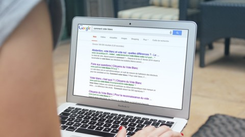 """""""Comment voter blanc"""" au top des recherches Google en 2014"""