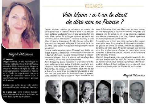 Article dans le magazine 7 à Poitiers – décembre 2016