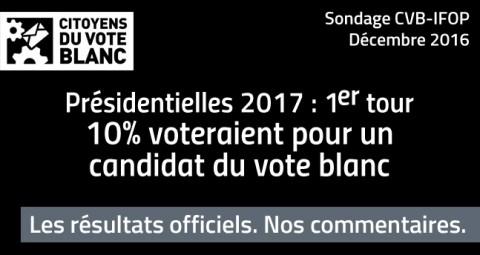 Etude CVB-IFOP : le vote blanc à la présidentielle 2017