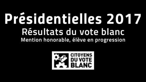 Résultat du vote blanc au 1er tour présidentielles 2017