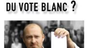 """""""Qui a peur du vote blanc ?"""",  le livre enfin disponible !"""